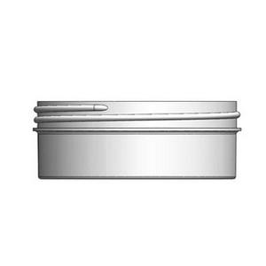 Bulk 6 oz 100mm White PP Jars, 175mL (no caps), case/408