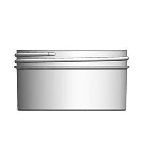 Bulk 8 oz 100mm White PP Jars, 250mL (no caps), case/288