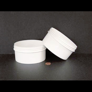 Bulk 16 oz 120mm White PP Jars, 450mL (no caps), case/165