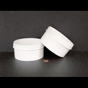 Bulk 16 oz 120mm White PP Jars, 450mL (no caps), case/165