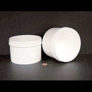 Bulk 24 oz 120mm White PP Jars, 650mL (no caps), case/120