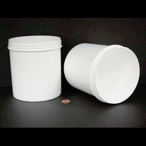 Bulk 40 oz 120mm White PP Jars, 1200mL (no caps), case/75
