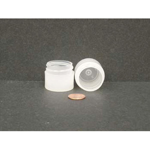 Bulk 0.25 oz 33mm PP Thick Wall Jars, 10mL (no caps), case/1890