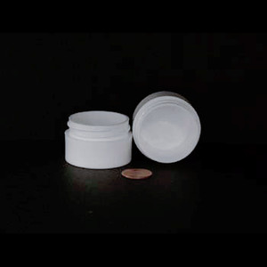 Bulk 0.5 oz 43mm White PP Thick Wall Jars, 10mL (no caps), case/1232