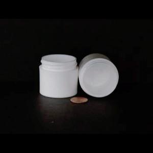 Bulk 1 oz 43mm White PP Thick Wall Jars, 25mL (no caps), case/784
