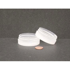 Bulk 0.5 oz 53mm PP Thick Wall Jars, 10mL (no caps), case/1232