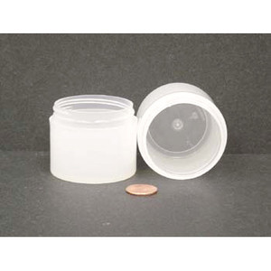 Bulk 2 oz 53mm PP Thick Wall Jars, 60mL (no caps), case/504
