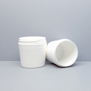 Tapered Jar, 63mm White PP Thick Wall 150mL (4oz), No Caps, case/275