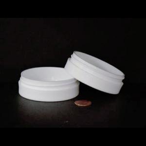 Bulk 1 oz 70mm White PP Thick Wall Jars, 45mL (no caps), case/560