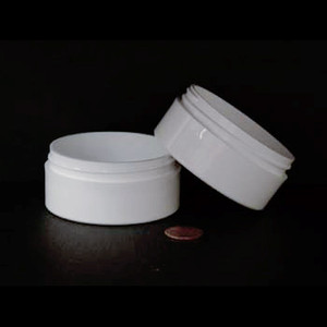 Bulk 2 oz 70mm White PP Thick Wall Jars, 100mL (no caps), case/360