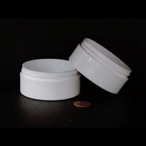 Bulk 2 oz 70mm White PP Thick Wall Jars, 100mL (no caps), case/360