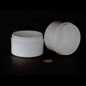 Bulk 3 oz 70mm White PP Thick Wall Jars, 4 oz (no caps), case/280