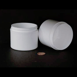 Bulk 4 oz 70mm White PP Thick Wall Jars, 150mL (no caps), case/200