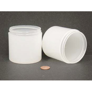 Bulk 6 oz 70mm PP Thick Wall Jars, 175mL (no caps), case/160