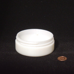 Bulk 3 oz 83mm White PP Thick Wall Jars, 100mL (no caps), case/252