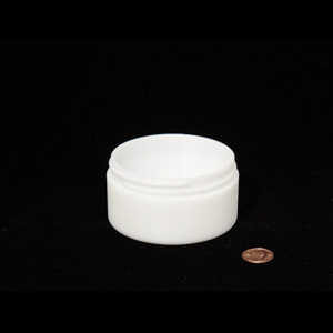 Bulk 4 oz 83mm White PP Thick Wall Jars, 125mL (no caps), case/196