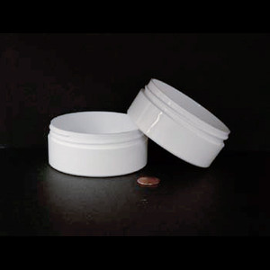 Bulk 4 oz 89mm White PP Thick Wall Jars, 175mL (no caps), case/216