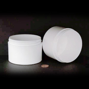 Bulk 8 oz 89mm White PP Thick Wall Jars, 250mL (no caps), case/135