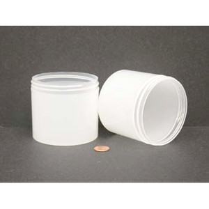 Bulk 12 oz 89mm PP Thick Wall Jars, 350mL (no caps), case/112