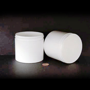 Bulk 12 oz 89mm White PP Thick Wall Jars, 350mL (no caps), case/112