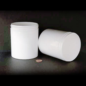 Bulk 16 oz 89mm White PP Thick Wall Jars, 500mL (no caps), case/84