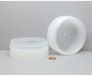 Bulk 6 oz 100mm PP Thick Wall Jars, 150mL (no caps), case/168