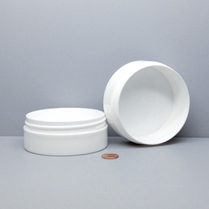 Bulk 6 oz 100mm White PP Thick Wall Jars, 150mL (no caps), case/168