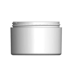 Bulk 10 oz 100mm White PP Thick Wall Jars, 250mL (no caps), case/105