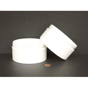 Bulk 16 oz 120mm White PP Thick Wall Jars, 450mL (no caps), case/75