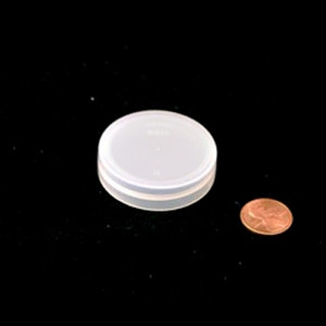 43mm (43-400) Natural PP Pressure Sensitive Lined Smooth Cap, Each