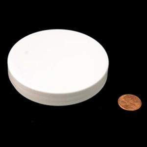 83mm (83-400) White PP Pressure Sensitive Lined Smooth Cap, Each