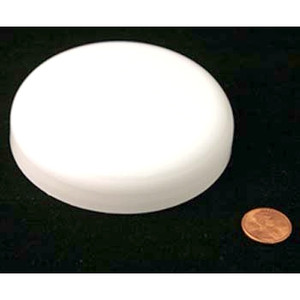 89mm (89-400) White PP Foam Lined Dome Cap, Each