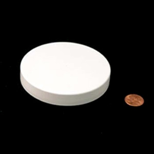 89mm (89-400) White PP Unlined Smooth Cap, Each