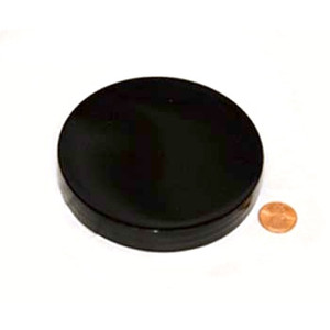 100mm (100-400) Black PP Unlined Smooth Cap, Each