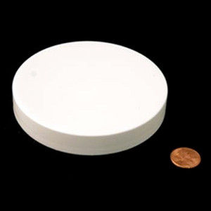 100mm (100-400) White PP Pressure Sensitive Lined Smooth Cap, Each