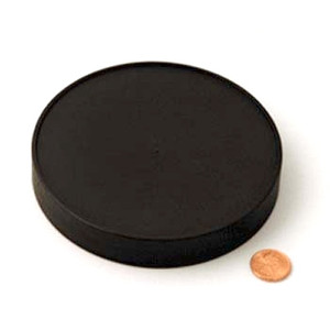 120mm (120-400) Black PP Pressure Sensitive Lined Ribbed Cap, Each