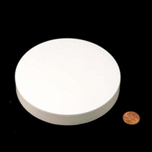 120mm (120-400) White PP Unlined Smooth Cap, Each