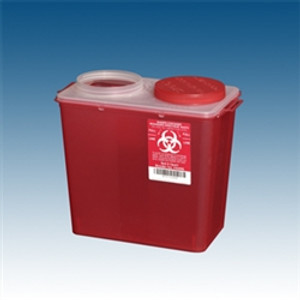Sharps Containers, 8 qt. Red Big Mouth, case/20