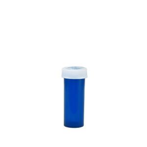 Blue Pharmacy Vials, Child-Resistant, Blue, 6 dram (22mL), case/600