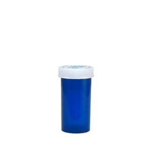 Blue Pharmacy Vials, Child-Resistant, Blue, 13 dram (48mL), case/320