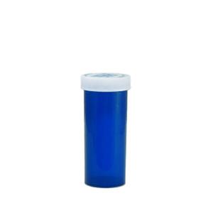 Blue Pharmacy Vials, Child-Resistant, Blue, 16 dram (59mL), case/270