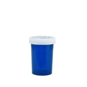 Blue Pharmacy Vials, Child-Resistant, Blue, 20 dram (75mL), case/360