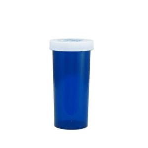 Blue Pharmacy Vials, Child-Resistant, Blue, 30 dram (111mL), case/240