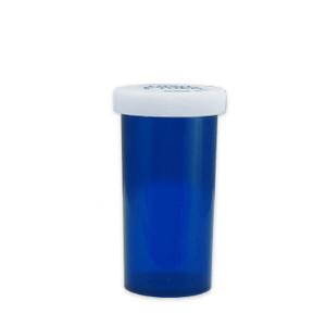 Blue Pharmacy Vials, Child-Resistant, Blue, 40 dram (148mL), case/180