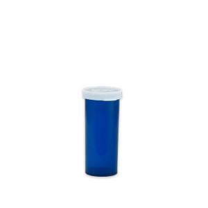 Blue Pharmacy Vials, Easy Snap-Caps, Blue, 8 dram (30mL), case/500