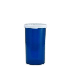 Blue Pharmacy Vials, Easy Snap-Caps, Blue, 40 dram (148mL), case/190