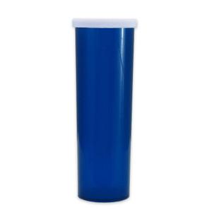 Blue Pharmacy Vials, Easy Snap-Caps, Blue, 60 dram (222mL), case/140