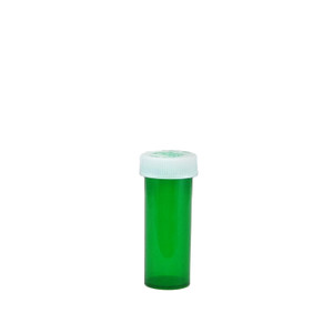 Green Pharmacy Vials, Child-Resistant, Green, 6 dram (22mL), case/600