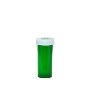Green Pharmacy Vials, Child-Resistant, Green, 8 dram (30mL), case/410