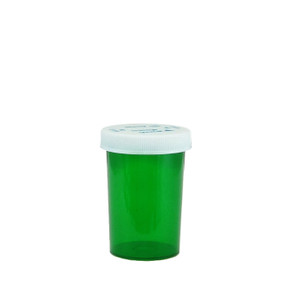 Green Pharmacy Vials, Child-Resistant, Green, 20 dram (75mL), case/360